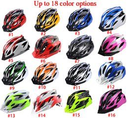 mtb helmet blue green Canada - Ultralight Adjustable EPS+PC Outdoor Sports Mountain Road Mtb Cycling Bike Bicycle Helmet Ciclismo 56-62CM