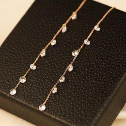 $enCountryForm.capitalKeyWord NZ - Long Earrings Women Drop Dangle Earrings Korean Zircon Earrings for Party Wedding Jewelry Fashion Fine Accessories