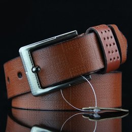 $enCountryForm.capitalKeyWord Australia - New Classic Plaid Men's Pin Buckle Belt High Quality Designer Casual Denim Belt Antique Retro Explosion Models
