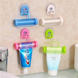 Two piece baThroom online shopping - Originality Rolling Squeezer Sucker Hanging Toothpaste Holder Supplies Multi Function Mildy Wash Manual Extruder Home Bathroom zr ff