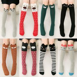 Wholesale Unisex Baby Girl Boy kids cartoon knee high Cute Cartoon Socks cat fox american flag socks Leg Warmers Kids Kawaii Socks A