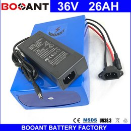Motor Bicycles Australia - BOOANT EU US Free Customs 36V 26AH E-Bike Li-ion Battery pack for Bafang 1500W Motor Electric Bicycle Battery 36V +2A Charger