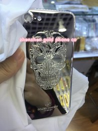 Hot Housing Australia - Hot selling 2018 shiny 995 platinum gold cover for iphone7 housing back panel jet PLATINUM SKULL plated back housing free shipping