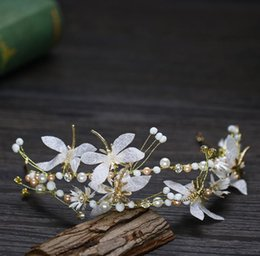 Butterfly hair comB wedding online shopping - Double butterfly head button silk yarn Butterfly Hair Band Bridal Wedding ornament headwear