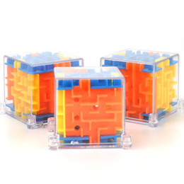 Discount puzzle maze ball - 4*4cm Puzzle Maze Magic Cube Toys gift 3D Mini Speed Cube Puzzles Labyrinth Rolling Ball Cubos Magicos Learning Toy for