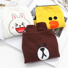 women s cartoon briefs NZ - Cartoon Printed Briefs for Students Cotton Cute Brown Bear Women Underpants Soft Breathable Panties Underwear for Lady