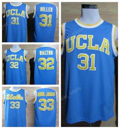 College UCLA Bruins Jerseys 32 Bill Walton 33 Kareem Abdul Jabbar 31 Reggie  Miller Jersey Men Basketball Uniforms Embroidery Blue White 12c020de8