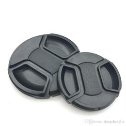 Universal Camera Lens Cap Protection Cover 49 52 55 58 62 67 72 77 82mm Linsskydd med anti-Lost Rope Gratis frakt