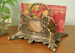 $enCountryForm.capitalKeyWord Canada - Old Vintage Decorative Brass Desk Letter Holder Napkin Holder Art Metal Craft Decor Antique Postcard Display Holder Stand Desk Ornament