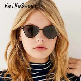 412942379e8 KeiKeSweet Women Luxury Designer Fashion Rays Vintage Cat Eye Sunglasses  Hot New Brand Cute Sexy Lady Mirror Sun Glasses