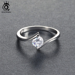 $enCountryForm.capitalKeyWord Australia - ORSA JEWELS 2018 Luxury Austrian Crystal Solitaire Ring Silver Color Lead & Nickel Free Ring for Women OR06