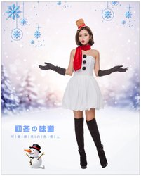$enCountryForm.capitalKeyWord Australia - 2018 new hot sexy tight red Christmas dress women's Christmas costume cute sweet white snowman party party clothes