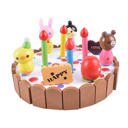 $enCountryForm.capitalKeyWord NZ - New Wooden Baby Toys Mother Garden strawberry simulation every family had a small wooden cartoon birthday cake