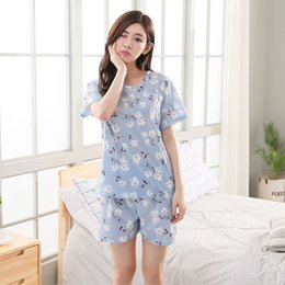 Fashion Women 2018 Summer Milk Silk Print Cartoon Short Sleeve Shorts Ms. Set  Pajamas Sweet Cute Girl Pajamas Set 2804f774d