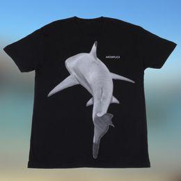 Shirt Killers NZ - Vintage Tees Men's O-Neck Akomplice Killer Shark Mens Short Sleeve Black T-Shirt Casual Street Wear Short Sleeve Office Tee