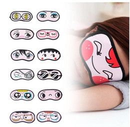 Wholesale Cute Cartoon Eye Mask Blindfold Sleeping Cover Eye Patch Eyes Relax Travel Relieve Fatigue Eyeshade Sleep Mask