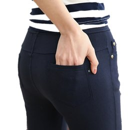 b3a237ebc6a FSDKFAA 2018 NEW Arrival Stretch Well 3 Colors Plus Size High Waist Full  Length For Four Seasons Women Skinny Pencil Jeans