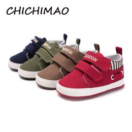$enCountryForm.capitalKeyWord Australia - 4 Pcs Wholesale Infant Babies Boy Girl Shoes Sole Soft Canvas Solid Footwear For Newborns Toddler Crib Moccasins 4 Colors Available