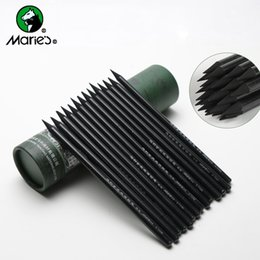 Wholesale 24pcs Marie s Charcoal Pencil For Drawing Soft Painting Sketch Pencils Set Student Supplies Stationery For Artist Painting