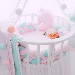 Designs For Beds NZ - Minimalism Baby Bed Bumper Knot Design Newborn Crib Pad Protection Cot Bumpers Bedding Accessories for Infant Room Decor 1M 2M