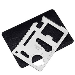 Military tools online shopping - 11 In Survival Card Multi Function Stainless Steel Camping Openers Pocket Military Credit Cards Easy To Carry EDC Tools mh BB