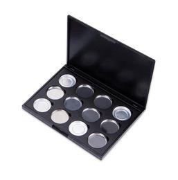Empty Eyeshadow Pans UK - Makeup Cosmetic Empty 12 pcs Aluminum Magnetic Eyeshadow Eye Shadow Pigment Pans Palette Case 50pcs