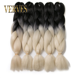 expressions synthetic braiding hair UK - ombre color Braiding Hair High Temperature Fiber expression braiding hair 100g piece synthetic braiding hair