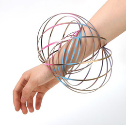 China Creative Pressure Relief Magic Hand Ring Bangle Magic Prop Fluid Bracelet Design The Deformation Stainless Steel Bangle Stress Relief Toys. cheap toy sets suppliers