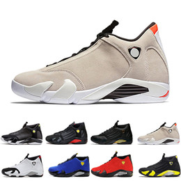 $enCountryForm.capitalKeyWord NZ - 14 14s mens Basketball Shoes Desert Sand DMP Last Shot Indiglo Thunder Red Suede Oxidized Black Toe men Sports Sneakers trainers designer