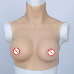 Crossdresser breast form online shopping - D Cup Fake Boobs Realistic Artificial Silicone Breast Forms For Fancyball Transgender Crossdresser Shemale Dragqueen Masquerade Bust Enlarge