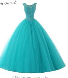 d438278029b Ruby Bridal Scoop Sleevele Quinceanera Dresses Vestido Debutante Blue Quinceanera  Dress Dresses Ball Gowns Quinceanera Dress