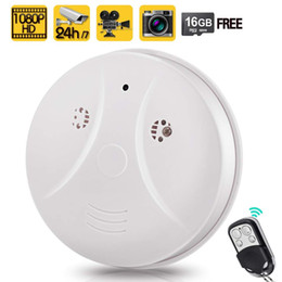 Smoke Detector Remote Alarm NZ - Free Shipping 1080P HD Home Security Camera Video Recorder Smoke Detector Fire Alarm Cam with Motion Activated and remote control