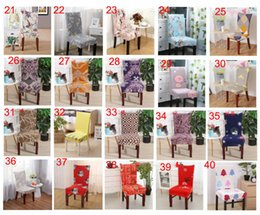 Discount dining tables cover - christmas Chair covers Home Dining Multifunctional antifouling Chair Cover Removable Elastic Xmas Slipcovers Seat Covers