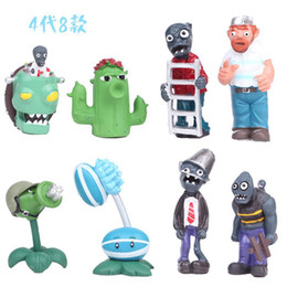 ornaments figure home NZ - 8pcs a lots 6-9cm Zombies Wrestling modle toys for Cake decoration home Ornament Children Toys Action Figures Dolls for kids xmas gift