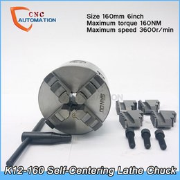 Wholesale Lathe Chuck Self Centering rpm inch Jaw mm K12 with Wrench and Screws Hardened Steel for Drilling Milling Machine
