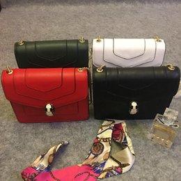 94512d3bf1d8 Fashion Famous Women 2018 Spring Summer Latest Classic Explosion Models  Retro Enamel Leather Handbags Snake Head Package Diagonal Shoulder S