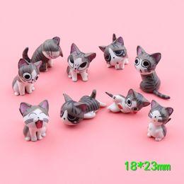Mini gatto figurine in miniatura giocattoli animali cartoon statua Modelli Bonsai Giardino Piccolo ornamento Paesaggio Casa Giardino Decorazione 2 ~ 3cm K0311