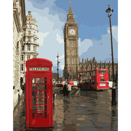 Impressions Canvas Print Australia - diy paintings by numbers Impression of London Wall art coloring picture by numbers on canvas for the hall