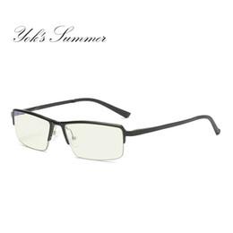 974f157351d Yok s Summer Anti Blue Ray Computer Glasses Aluminum Frame Eyeglasses  Optical Spectacles Men Rectangle Reading Eyewear UH130