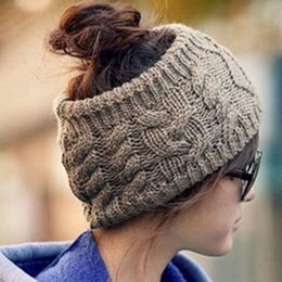 Wholesale 1PC Hot Korean Style Vogue Women Men Unisex Winter Warm Braided Soft Knit Wool Halloween Hat Cap Comfy HairBands New