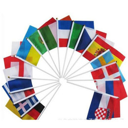 $enCountryForm.capitalKeyWord NZ - Hand Held Flags With Poles 2018 World Cup 32 Countries Small Hand National Team Flags With 14*21CM