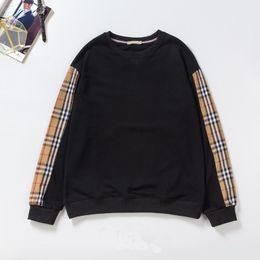 d38ba65888a1e London hoodie online shopping - 18FW England London Autumn Winter Fashion  Plaids Sleeve Hoodie Men Women