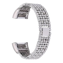 $enCountryForm.capitalKeyWord Australia - Replacement Wrist Band 2018 Steel Bead Style Bracelet Smart Watch Band Strap For Fitbit Charge 2 () #1012 A#487
