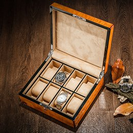 Light Display Case Australia - 2018 High Light Watch Storage Boxes Case Mechanical Men's Wood Watch Display Case With Lock New Women Wooden Gift Box W 0115