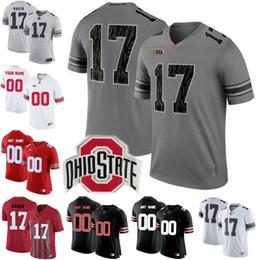 a793b7b45e8 ... college football stitched  custom ohio state buckeyes 2017 white gray black  camo jerseys 17 jerome baker 16 barrett iv