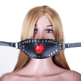 Bdsm Plug Ball Australia - Fetish Oral Sex Products Toys For Women ,BDSM Ball Gag Mouth Plug Head PVC Leather Bondage Belt Slave In Adult Games Adult Products