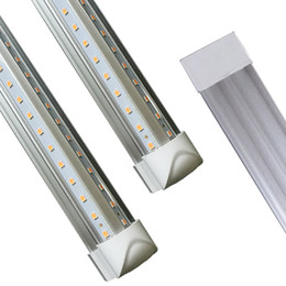 Ul shop online shopping - Shopping V Shaped ft Led Tube Light T8 Integrated Led Tubes Double Sides SMD2835 Led Fluorescent Lights AC85 V CE RoHS FCC