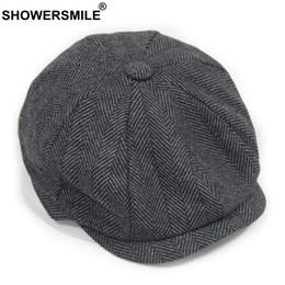 $enCountryForm.capitalKeyWord NZ - SHOWERSMILE Black Grey Wool Hat Man Newsboy Caps Herringbone Tweed Warm Winter Octagonal Hat Male Female Gatsby Retro Flat Caps S1020