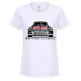 Discount classic car s - austin mini printed tshirt women's Summer Style austin mini Cooper Classic Car T Shirt Short Sleeve Tee