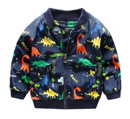Boys Dinosaur Jacket Australia - 2019 Children Spring Autumn dinosaur print zipper coat Jacket clothing Baby Boys Kids Outerwear Children Clothes